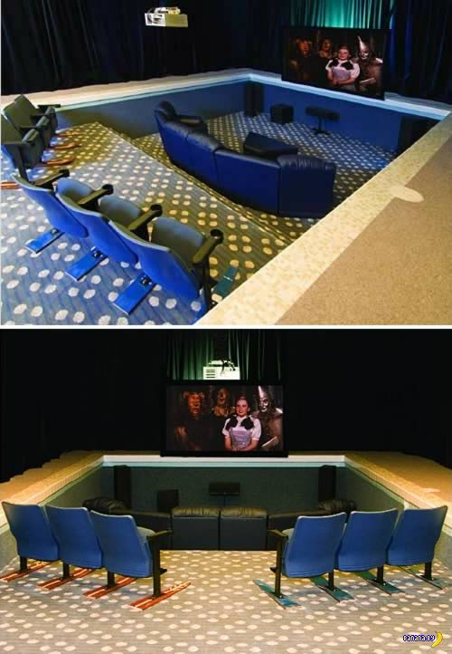 10 интересных домашних кинотеатров