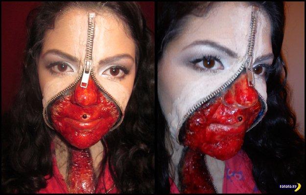 Разрисовать лицо на хэллоуин своими руками