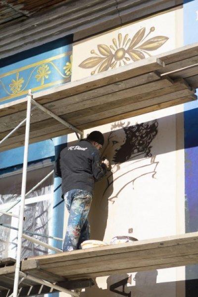 Пришкольный стрит-арт из Тюмени