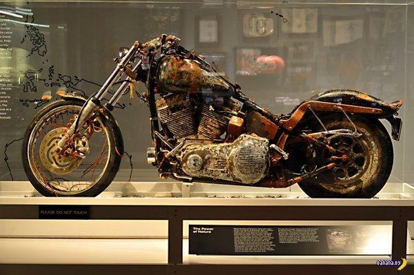 Унесенный цунами мотоцикл попал в музей