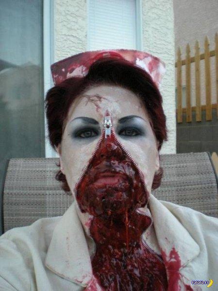 Лица на молнии - мода на этот Хеллоуин