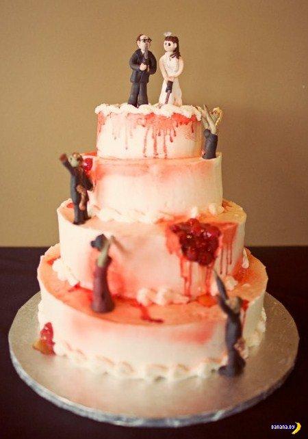 10 крутейших свадебных тортов на тему зомби