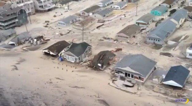 Последствия от урагана Сэнди в Нью Джерси