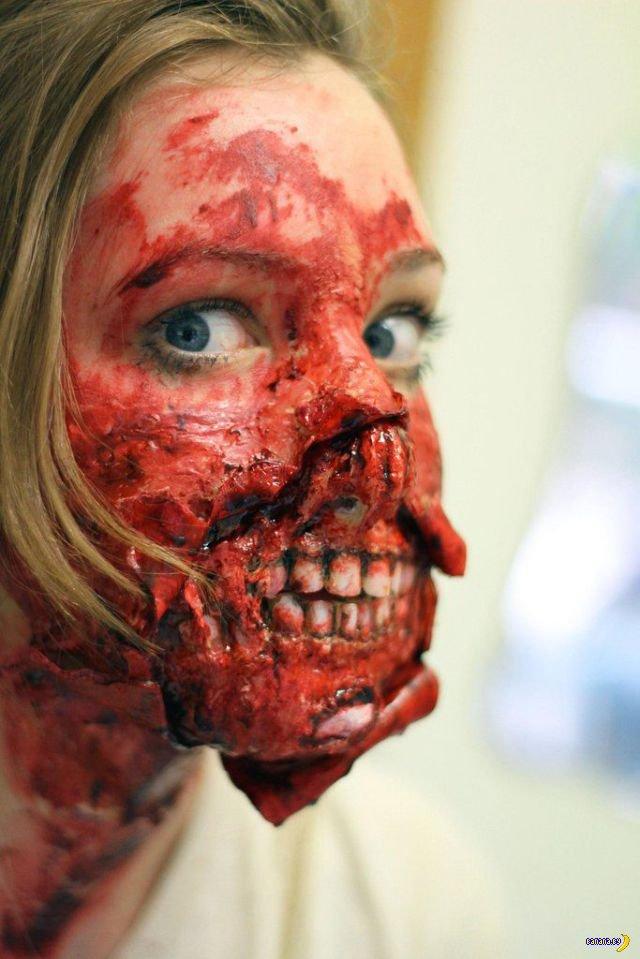 Еще одно зомби-лицо поэтапно