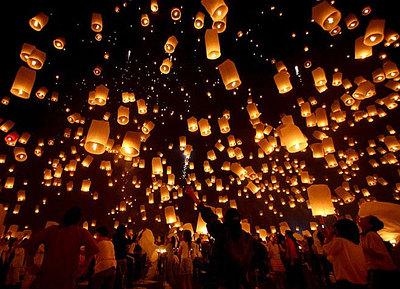 Небесные огни - китайские фонарики