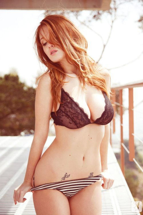 Big busted babe Leanna Decker stripping off her bikini outdoor № 936148 загрузить
