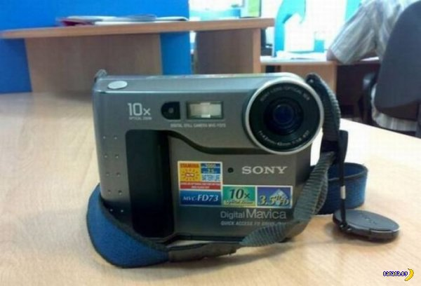 Камера с дискетками