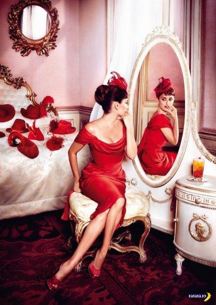 Красный фотосет Пенелопы Крус