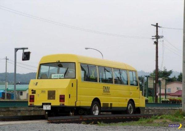 Японцы запустили автобус-вагон