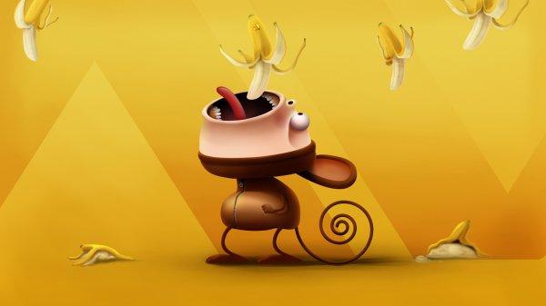 Банановые обои на рабочий стол