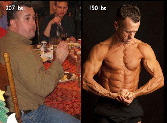 Из толстяка в качка