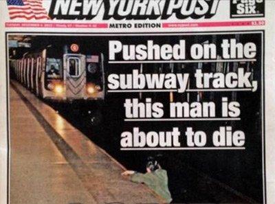 В США мужчина погиб под поездом из-за фотографа