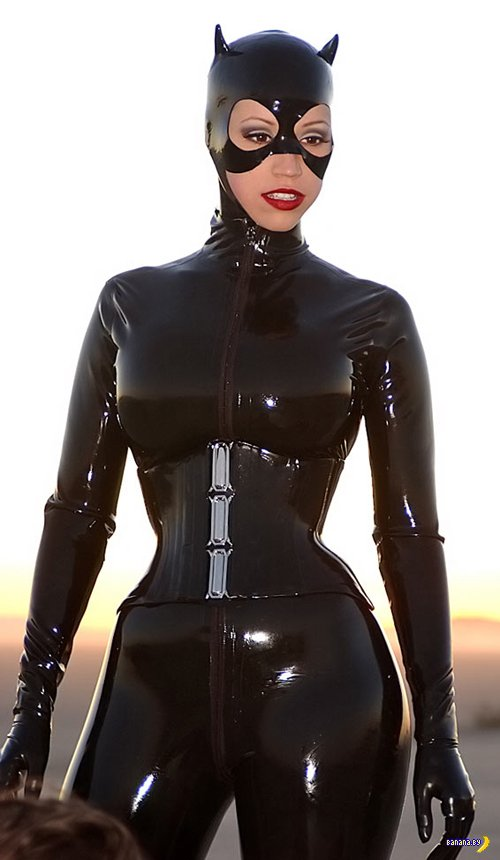 Pvc or latex catwoman masks