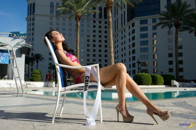 Съемка в бикини конкурсанток с Мисс Вселенная 2012