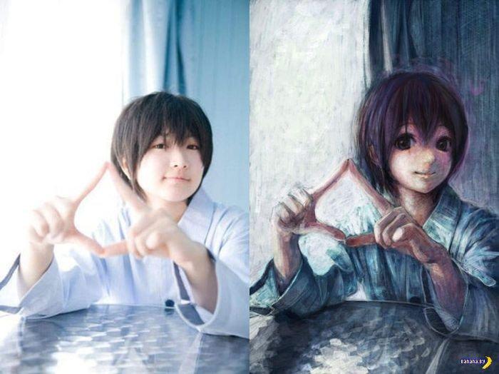 С фото - в аниме