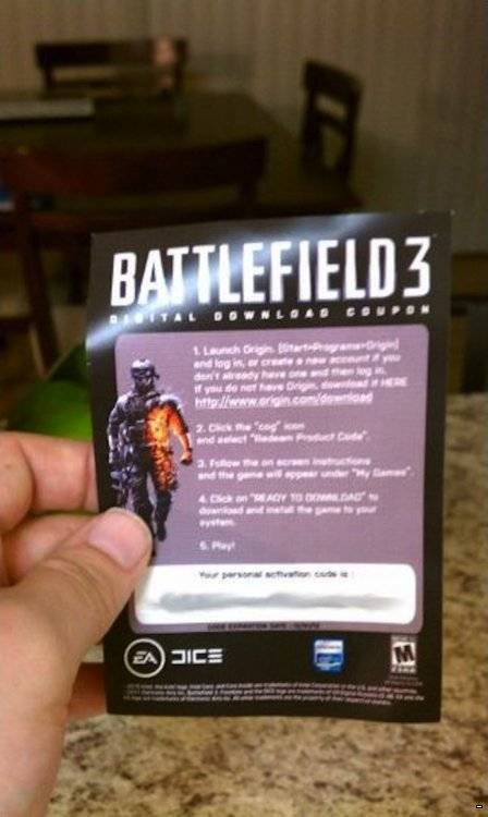 Распаковка присланной по почте игры Battlefield 3