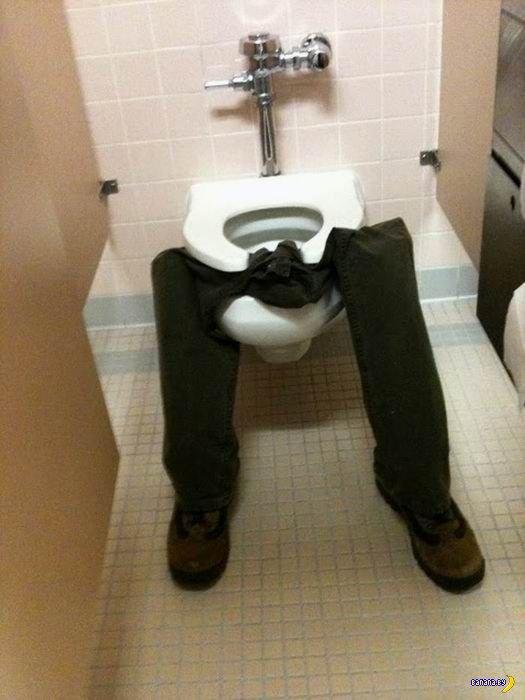 Туалетный офисный пранк