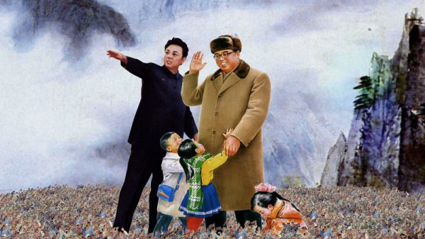 Ким Ир Сен строит метро и другие шедевры чучхейской живописи