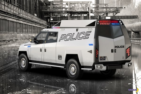 TX7 - новый полицейский фургон от Carbon Motors