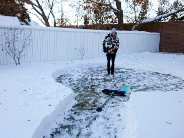 Радужный дом из льда