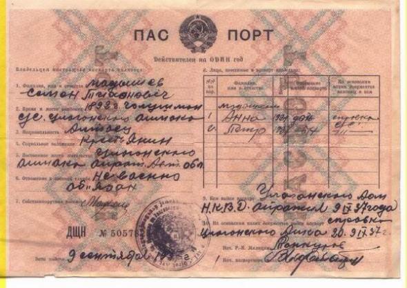 Cоветский паспорт