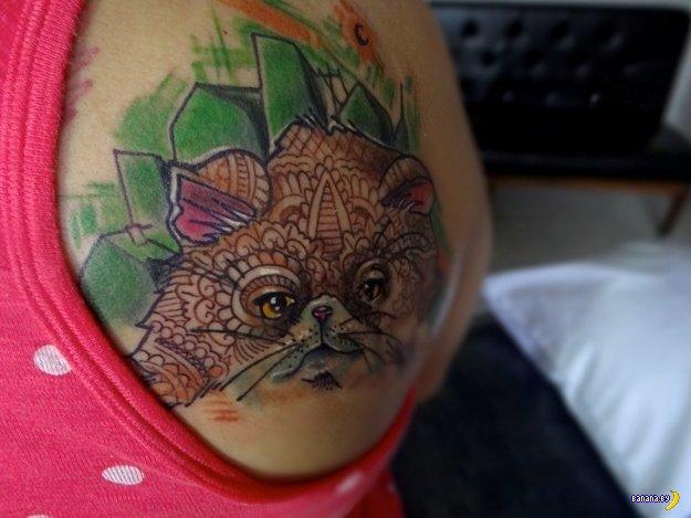 Татуировки с котиками