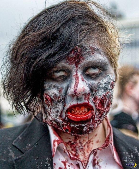 Самый лучший зомби грим!