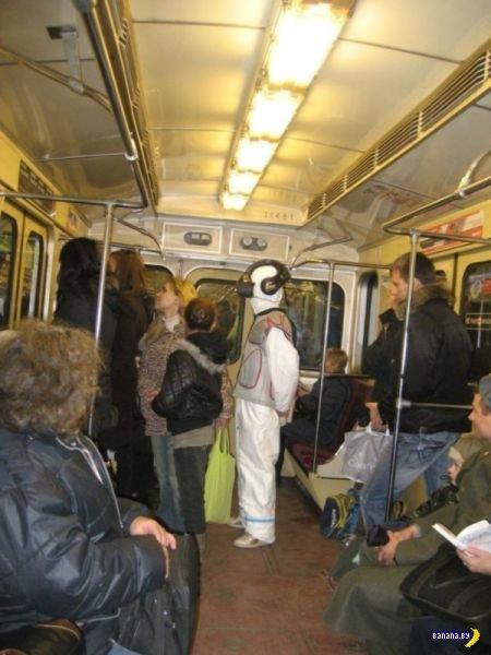 Забавные люди в транспорте