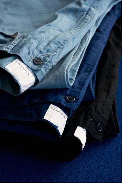 Весенний лукбук коллекции одежды марки Nanamica