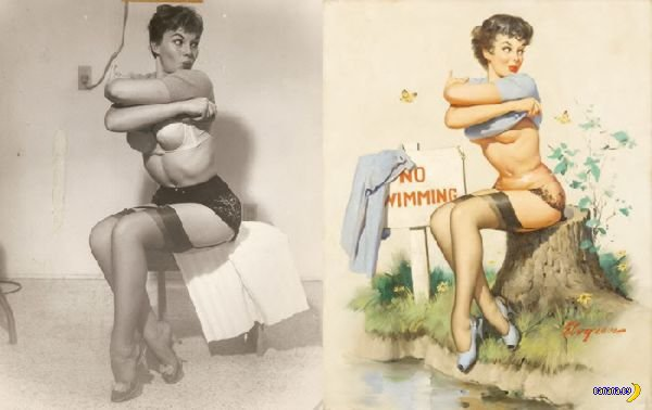 Как рисовались картинки пин-ап?