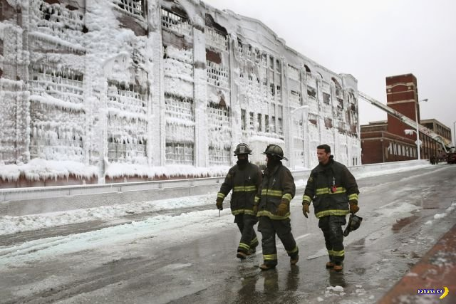 Тушение пожара на морозе