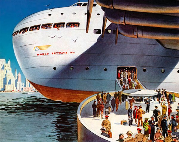 Как видели транспорт далекого будущего в далеком прошлом
