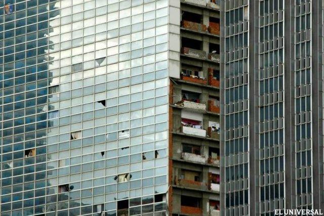 Centro Financiero Confinanzas - вертикальные трущобы Каракаса