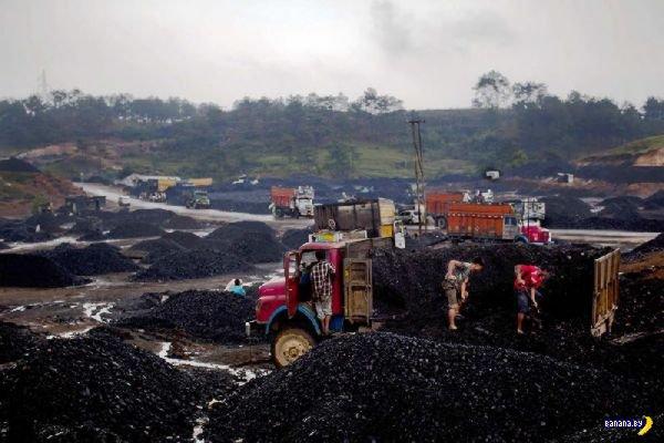 Детский труд на добыче угля в Индии