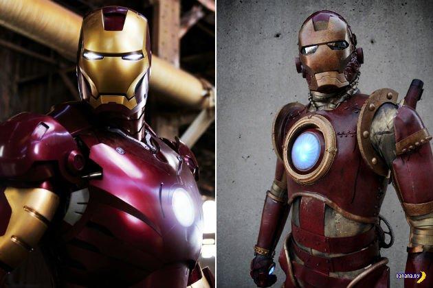 Косплей костюм Железного Человека в стиле Стимпанк