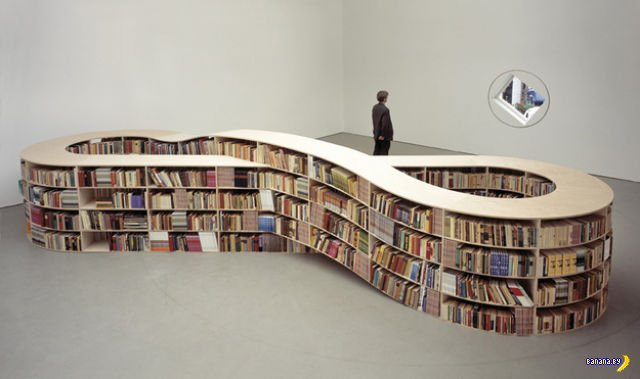 Креативные книжные полки