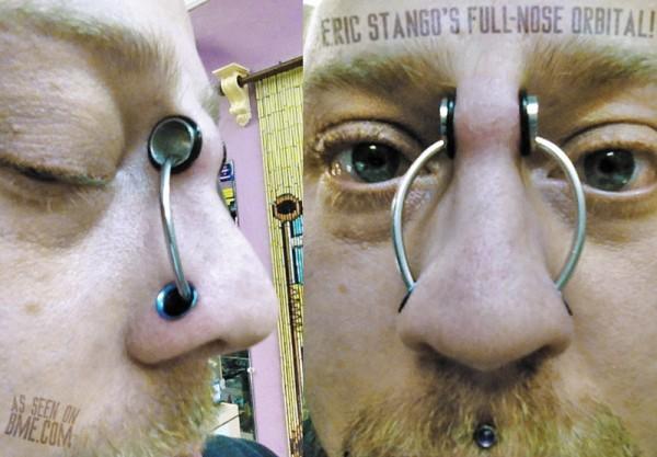 Кольцо в носу. Дважды!