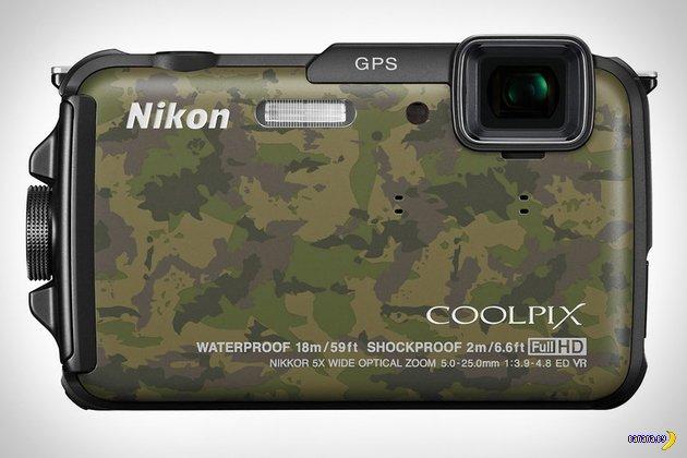 Камуфлированная камера Nikon Coolpix AW110