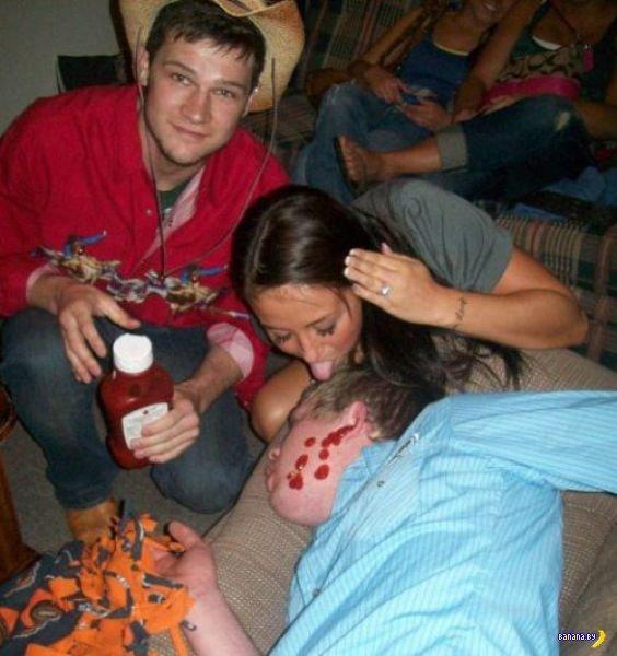 Жестокие издевательства над пьяными