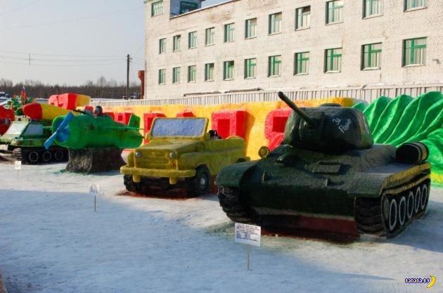 Снежные скульптуры от зэков