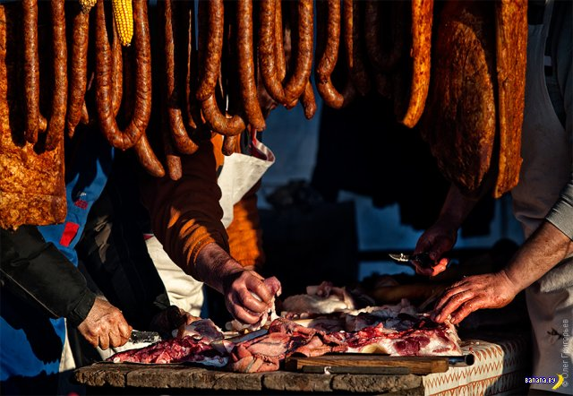 Фестиваль мясников в Закарпатье