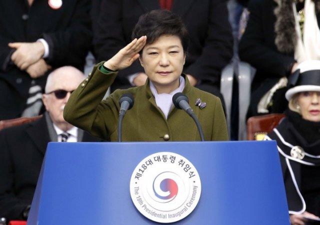 Президент Южной Кореи вступила в должность под Gangnam Style