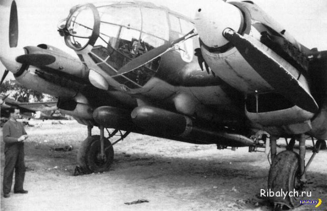 Немецкий бомбардировщик как средство спасения