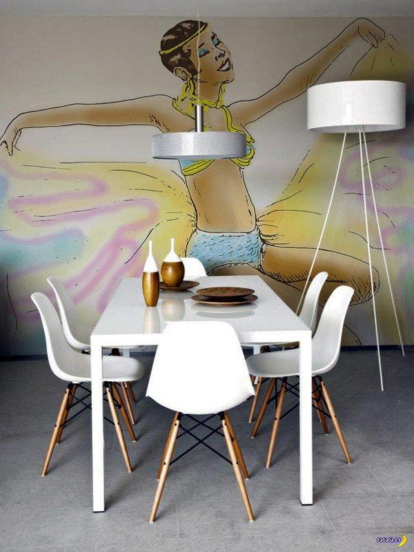 Стикеры на стену как элемент интерьера