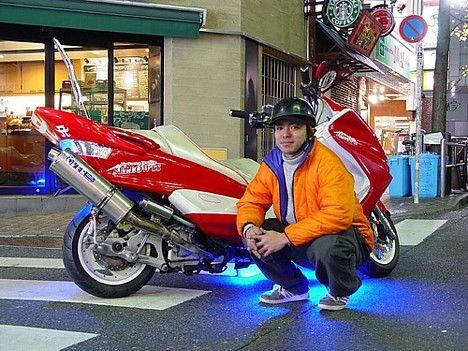 Японский тюнинг скутеров