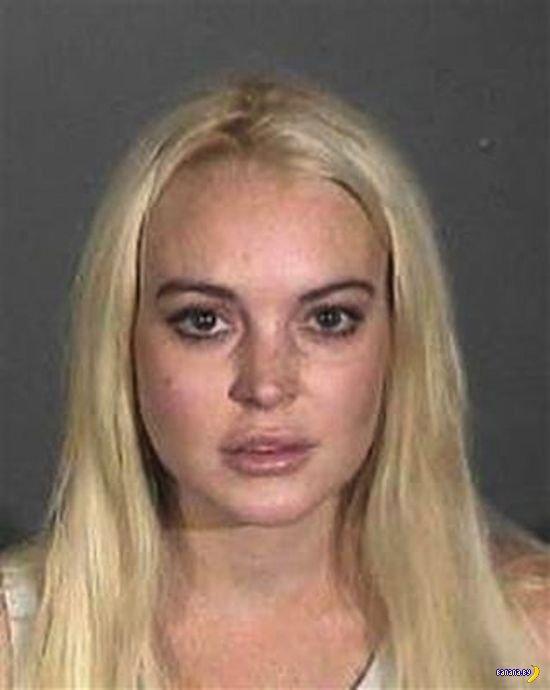 Линдси Лохан - тюремные фото