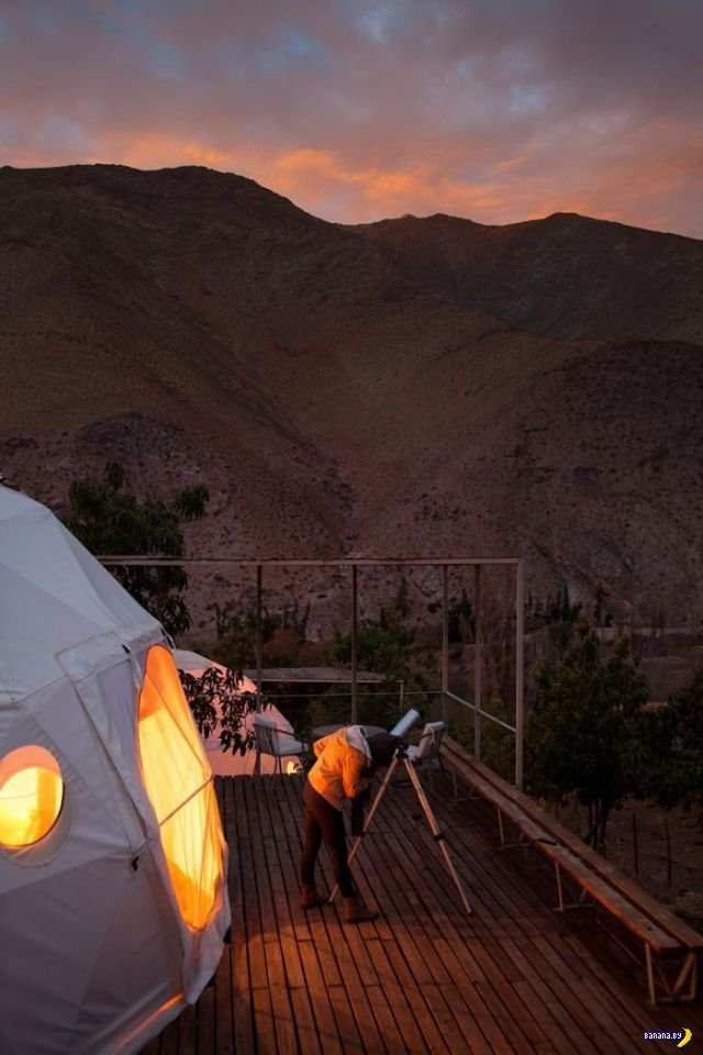 Почти марсианский отель в Чили
