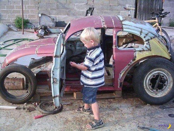 Лучший в мире папа и машинка для сына