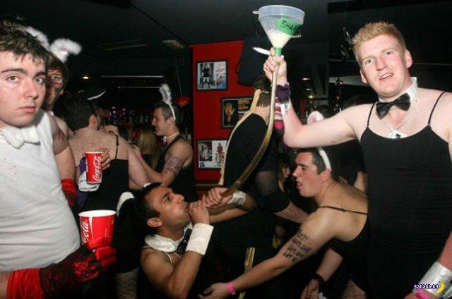 Британская пьянь на выезде
