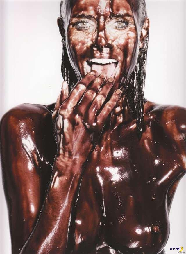 Хайди Клум в шоколаде